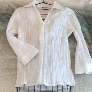 Croft and Barrow white blouse size M